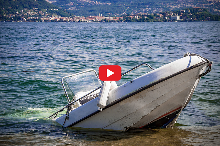 Boat crash play button