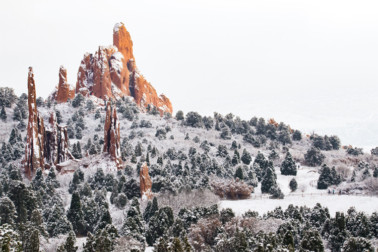 Best Winter Weekend Getaway at Garden of the Gods