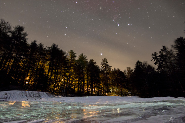 Best Winter Weekend Getaway in New Germany State Park