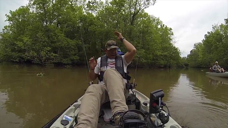 WATCH: When noodling for catfish goes wrong
