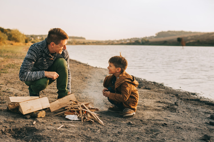 Fall camping activities for children