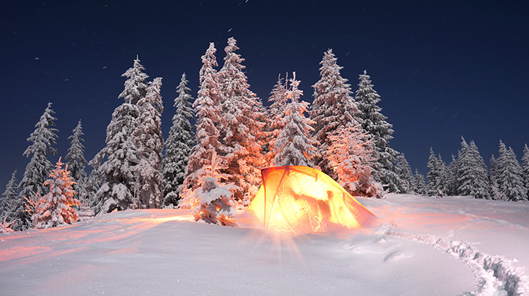 WATCH: This is what winter camping really looks like